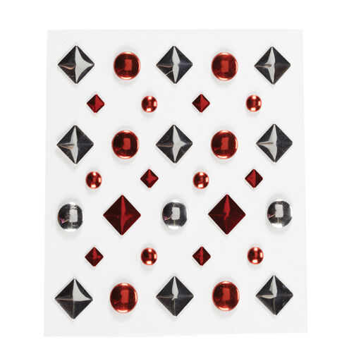 Red and Silver Adhesive Studs_50-21309