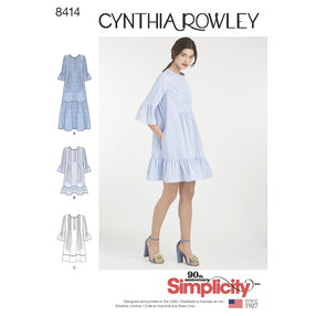 Pattern 8414 Misses' Dress By Cynthia Rowley