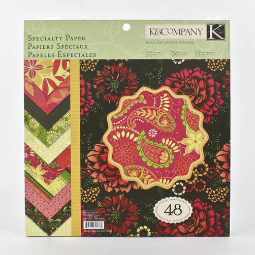 Simply Scarlet 48 Sheet 12 x 12 Specialty Paper Pad_30-302662
