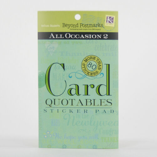 Beyond Postmarks All Occasion Too Quotable Sticker Pad_254060