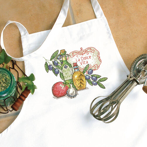 Tuscan Flavor Apron Stamped Cross Stitch_72-73884