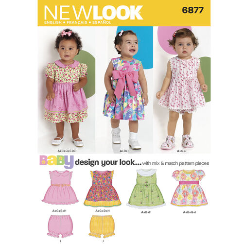 New Look Pattern 6877 Babies Dresses