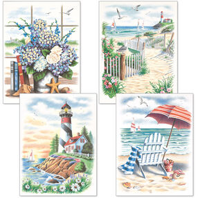 Beach Scenes, Pencil by Number, Set of 4_91331
