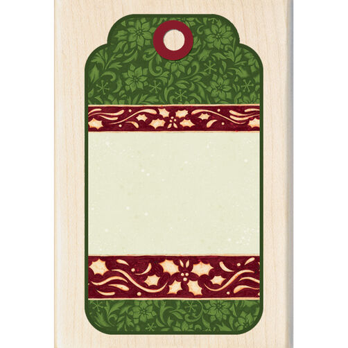 Decorative Tag Wood Stamp _60-00855