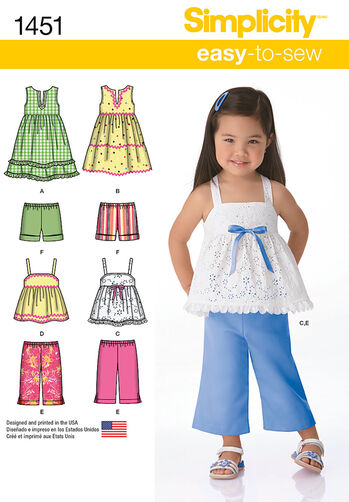 Toddlers' Dresses, Top, Cropped Pants and Shorts