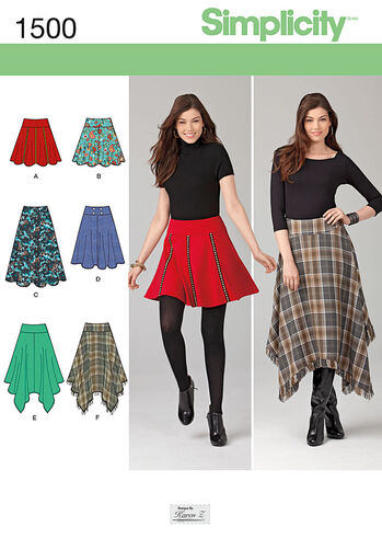 Misses' Skirts with Length Variations