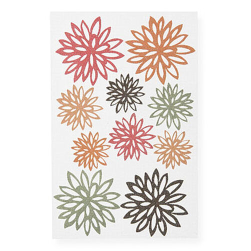 Glittered Fall Chrysanthemum Stickers_M355045