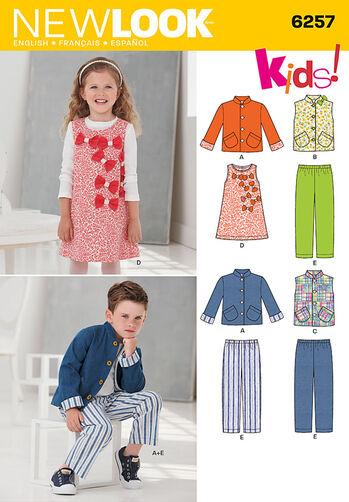 Child's Jacket or Vest, Jumper and Pants