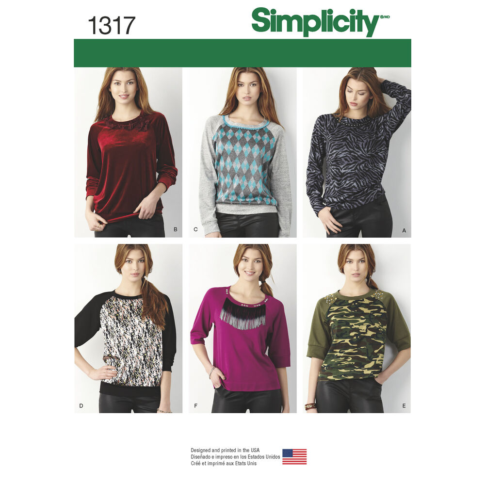 Knitting Websites Best : Misses pullover knit top simplicity