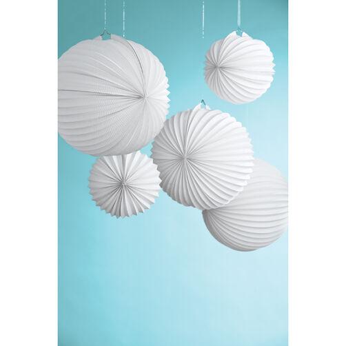 Doily Lace White Accordion Lanterns_44-20014