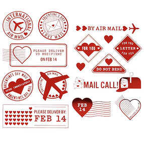 Love Notes Foil Postage Stickers_48-00077