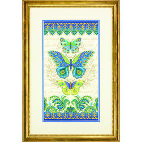 Peacock Butterflies in Counted Cross Stitch_70-35323