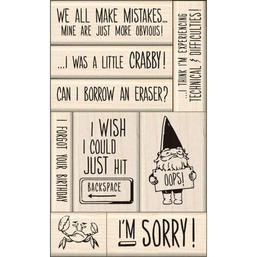 Sorry Card Making Wood Stamps_60-10118
