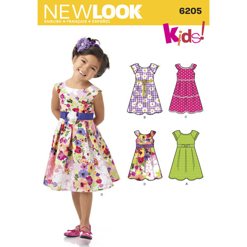 New Look Pattern 6205 Child's Dress