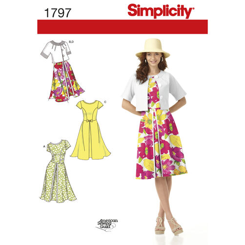 Simplicity Pattern 1797 Misses' Dresses and Jacket