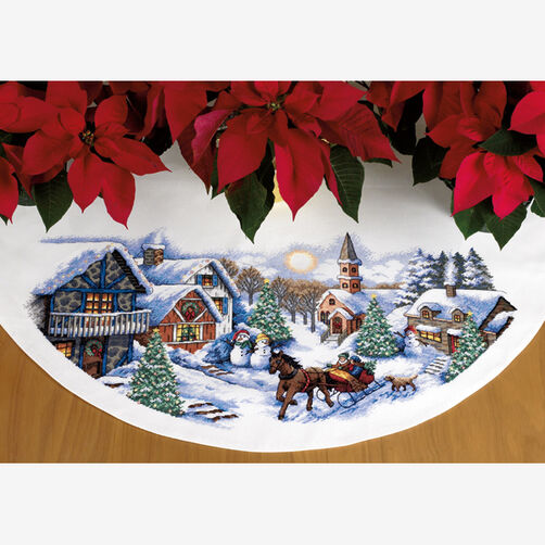 Sleigh Ride Tree Skirt, Counted Cross Stitch_70-08830