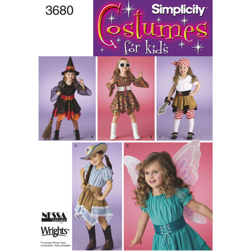Simplicity Pattern 3680 Child's Costumes