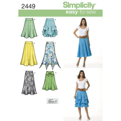 Simplicity Pattern 2449 Misses' Skirts