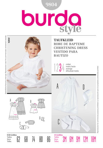 Burda Style, Christening Dress