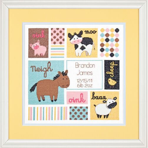 Barn Babies Birth Record, Counted Cross Stitch_70-73560