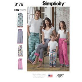 Pattern  8179 Child, Teen and Adult Lounge Pant