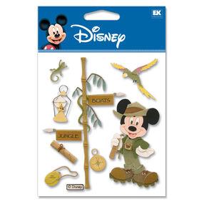 Jungle Mickey Dimensional Stickers_DJBV07