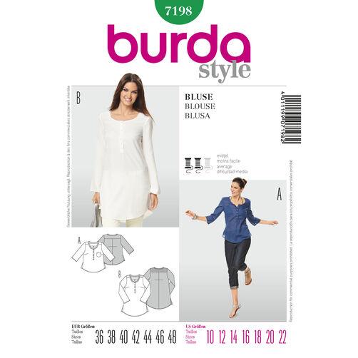 Burda Style Pattern 7198 Blouse
