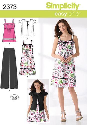 Simplicity Pattern 2373 Misses' Sportswear