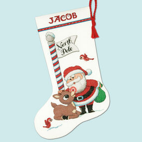 Rudolph Stocking, Counted Cross Stitch_70-08959