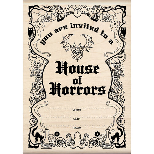 Horrors Invitation Wood Stamp_60-00920