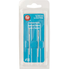 Boye Steel Needlepoint Needles Size 18, 2-Count