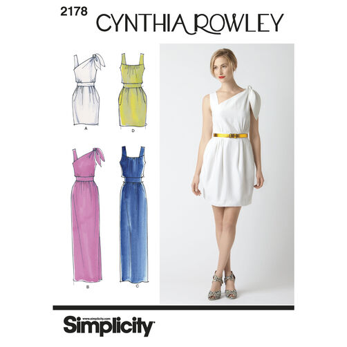 Simplicity Pattern 2178 Misses' Dresses, Cynthia Rowley Collection