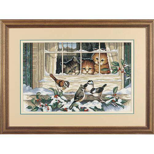 Three Bird Watchers, Counted Cross Stitch_03839