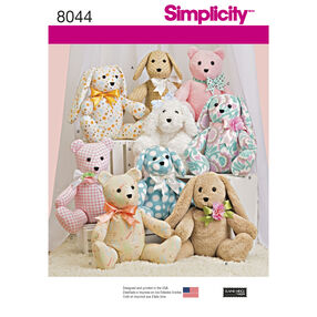 Two-Pattern Piece Stuffed Animals