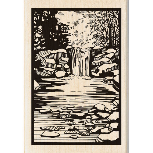 Woodland Stream Wood Stamp_60-00971