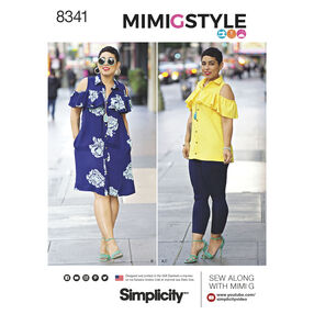 Simplicity Pattern 8341 Misses' Dress, Top and Knit Leggings by Mimi G