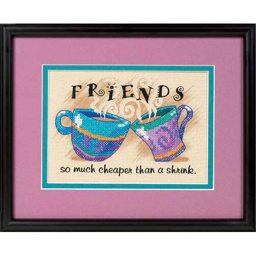 Cheaper than a Shrink, Stamped Cross Stitch_06980