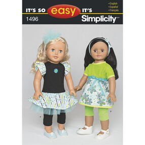 It's So Easy Pattern 1496 18 inch Doll Clothes
