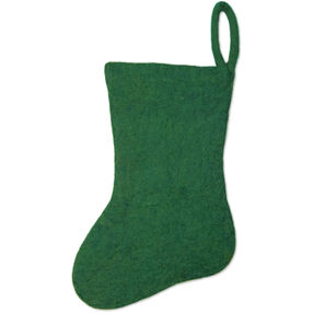 Green Wool Felt Stocking_72-08227