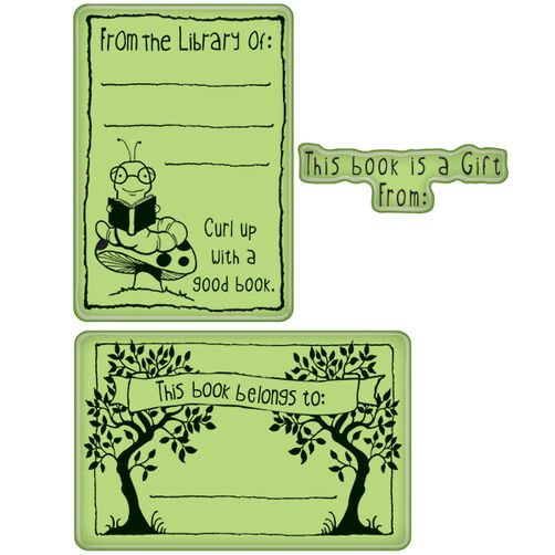Bookplates Cling Stamps_60-60329