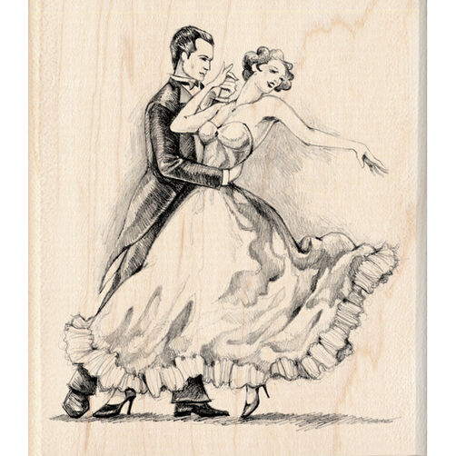 Two Dancers Wood Stamp_60-00880