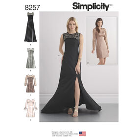 Simplicity Pattern 8257 Misses' Special Occasion Dresses and Gown