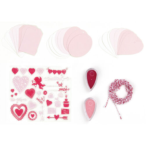 Valentine Stamp and Ink Set with Tags, _40-24047
