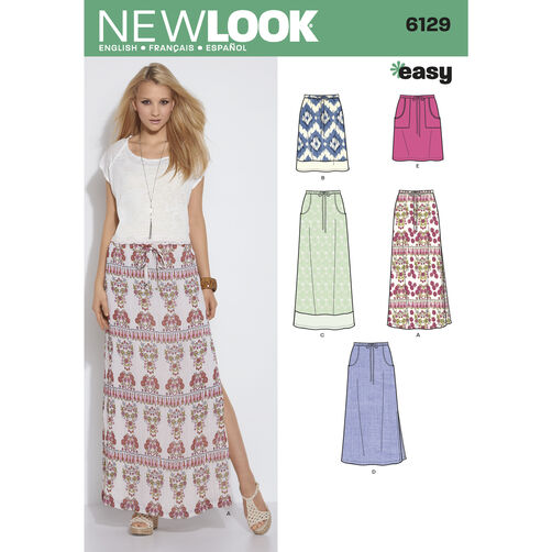 New Look Pattern 6129 Misses' Skirts