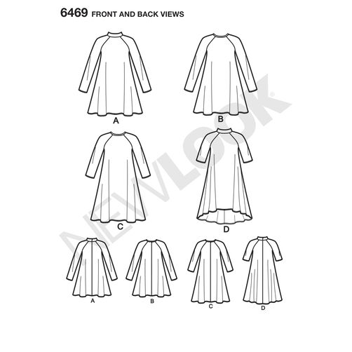 New Look Pattern 6469 Misses' Easy Knit Dress with Length