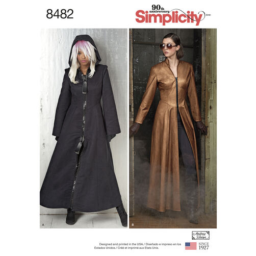 Simplicity Pattern 8482 Misses' Costume Coats