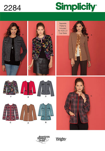 Simplicity Pattern 2284 Misses' & Miss Petite Jacket