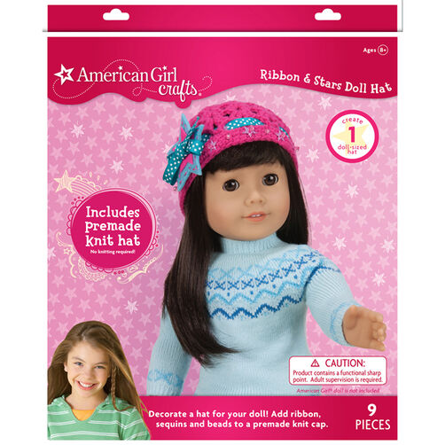 American Girl Ribbon and Stars Doll Hat_30-695467