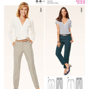 Burda Style Pattern 6689 Women's Pants
