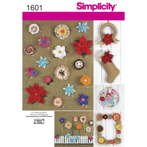Simplicity Pattern 1601 Fabric Flowers